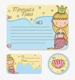 Mermaids printable sheet. Set of Mermaids printable sheet vector illustration graphic design Stock Photography