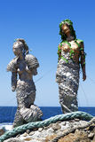 Two Mermaids Stock Photo