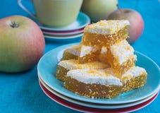 Mermelada de la manzana de caramelo foto de archivo