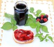 Mermelada orgánica de la fruta Fotografía de archivo libre de regalías
