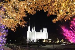 Mermen church in MD. Christmas Eve light up . Beautiful moment of church Royalty Free Stock Images