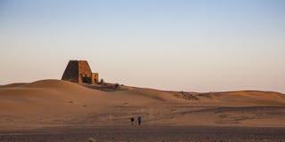 Free Meroe Pyramids At Sunrise Stock Photography - 117582642