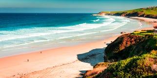 Meron Beach.San Vicente De La Barquera. Royalty Free Stock Images