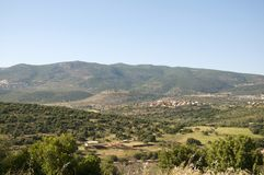 The Meron mountains in the Galilee stock image