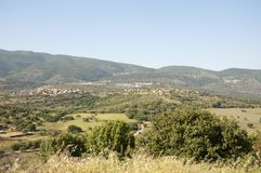 the Meron mountains in the Galilee royalty free stock photo