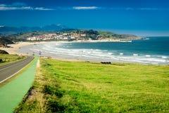 Meron-Strand San Vicente de la Barquera stockbild