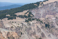 Merriam Point Overlook at Crater Lake Stock Image