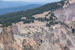 Merriam punkt Przegapia przy Krater jeziorem zdjęcia royalty free
