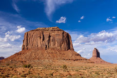 Merrick Butte at Monument Valley. Merrick Butte located at Monument Valley which is considered one of the natural wonders of the world because of the beauty of Royalty Free Stock Photos