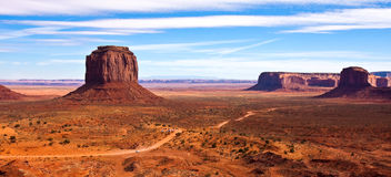 Merrick Butte Panorama. Panorama of Monument Valley with Merrick Butte Royalty Free Stock Photography