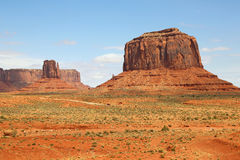 Merrick Butte and road in Monument Valley Stock Photography
