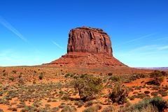 Merrick Butte w Pomnikowej dolinie, Utah Arizona, usa/ fotografia royalty free