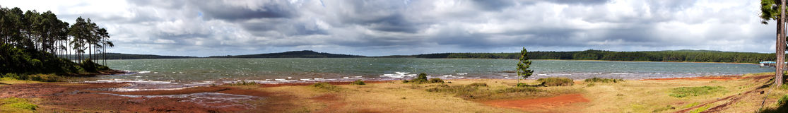 Merrie-aux-Vacoas-panorama het grootste waterreservoir van Mauritius, stock foto
