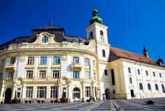Merrie Sibiu - Piata royalty-vrije stock foto