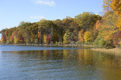 Merrill Creek reservoir in the autumn Stock Photography