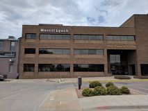 Merrill Lynch in Downtown Sioux Falls. Merrill Lynch offices at First Finanicial Center in downtown Sioux Falls, South Dakota stock photo
