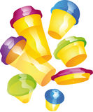 Merrily cups Royalty Free Stock Photography