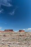 Merrimac-Butte und Monitor Butte in Nationalpark Canyonlands Lizenzfreies Stockfoto