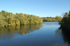Merrimack River in early fall Stock Images