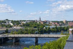 Free Merrimack River, Manchester, NH, USA Stock Image - 198084281