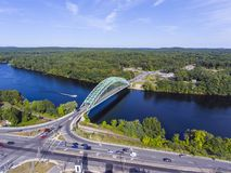 Merrimack River in Tyngsborough, MA, USA Stock Photo