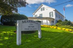 Merrimack town hall in Merrimack New Hampshire, USA