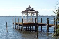 Merritt Island. View of the Indian River bay from Merritt Island, Florida stock photos