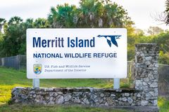 Merritt Island National Wildlife Refuge royalty free stock photography