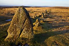 Merrivale  Stone Rows & Circles -Devon uk Royalty Free Stock Image