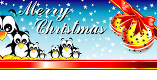 Merrry Christmas Penguin Stock Image