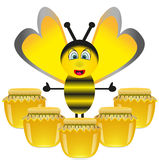 Merry Bee Royalty Free Stock Photos