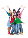 Merry and bright group of teenagers Royalty Free Stock Photography
