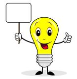 Merry bulb holds a clean banner Royalty Free Stock Photos