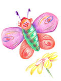 Merry  butterfly Royalty Free Stock Photos