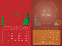 Merry calendar Royalty Free Stock Photos