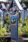 The Merry Cemetery is a cemetery in the village of Săpânța, Maramureş county, Romania. Stock Image