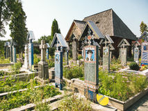 Merry cemetery at Sapanata, Romania Stock Images