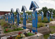 Merry Cemetery in Sapanta, Maramures royalty free stock images