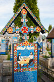 The merry cemetery of Sapanta, Maramures, Romania. Stock Photos
