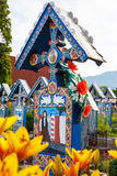 The merry cemetery of Sapanta, Maramures, Romania. Stock Photography