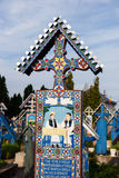 The merry cemetery of Sapanta, Maramures, Romania. Stock Images