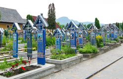 The merry cemetery,Sapanta, Maramures Royalty Free Stock Image