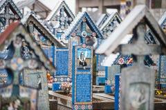 Merry Cemetery in Sapanta, Romania. Stock Image