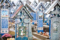 Merry Cemetery in Sapanta, Romania. Royalty Free Stock Image