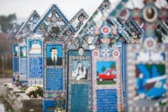 Merry Cemetery in Sapanta, Romania. Stock Photos