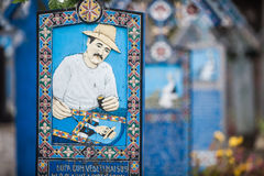 Merry Cemetery in Sapanta, Romania. Royalty Free Stock Images