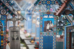 Merry Cemetery in Sapanta, Romania. Stock Images