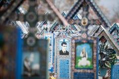 Merry Cemetery in Sapanta, Romania. Stock Photo