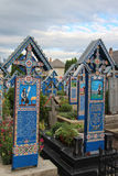The Merry Cemetery in Sapanta, Romania Stock Photos