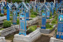 The Merry Cemetery in Sapanta, Romania Royalty Free Stock Photography